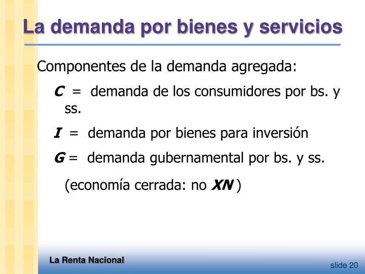 La demanda por bienes y servicios