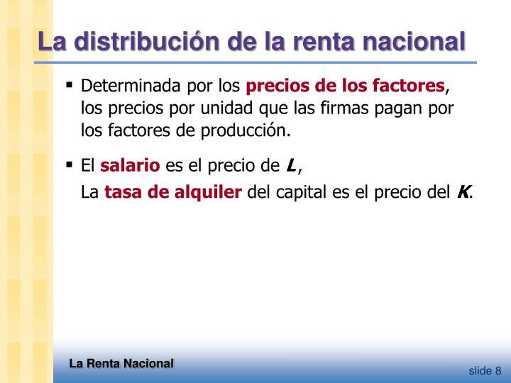 La distribución de la renta nacional