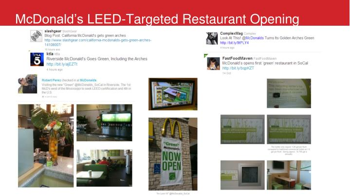 McDonald's LEED-Targeted Restaurant Opening