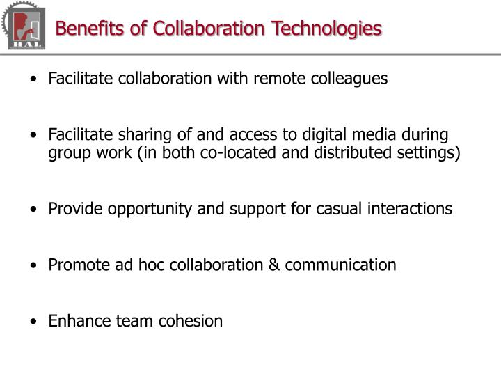 Benefits of Collaboration Technologies