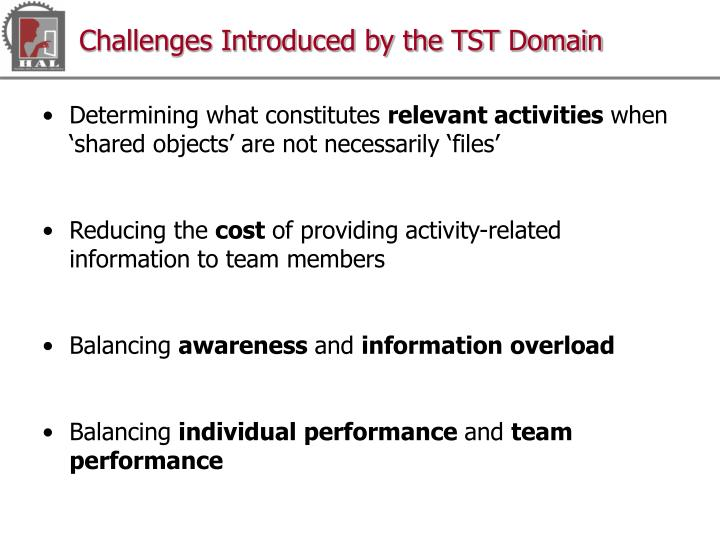 Challenges Introduced by the TST Domain