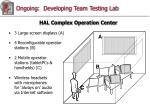 ongoing developing team testing lab