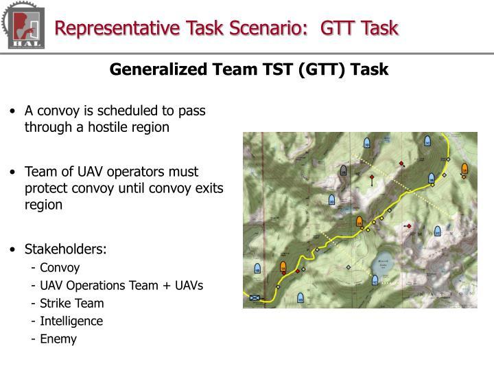 Representative Task Scenario:  GTT Task