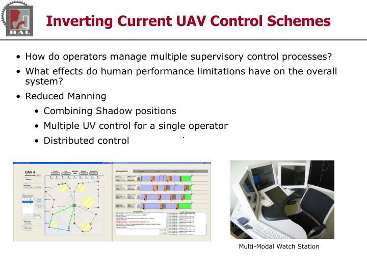 Inverting Current UAV Control Schemes