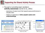supporting the shared activity process