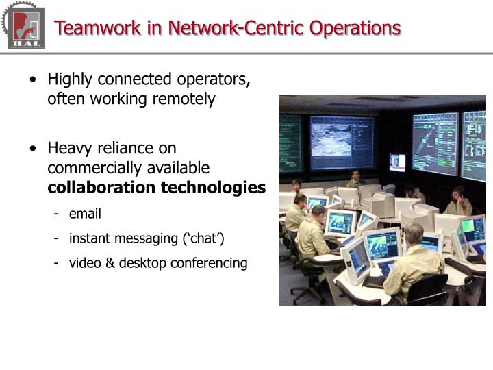 Teamwork in Network-Centric Operations