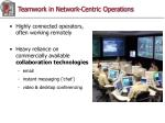 teamwork in network centric operations