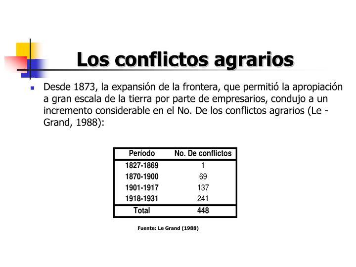 Los conflictos agrarios