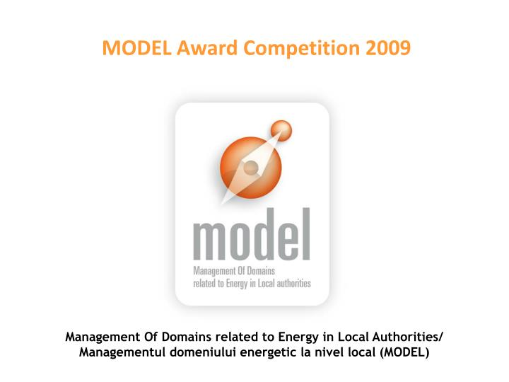 MODEL Award Competition 2009
