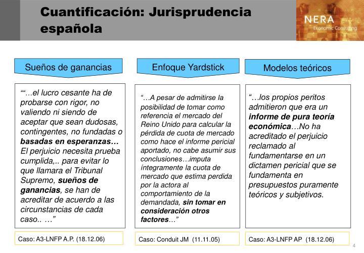 Cuantificación: Jurisprudencia española