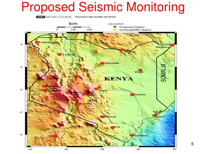 Proposed Seismic Monitoring