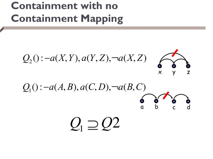 Containment with no Containment Mapping