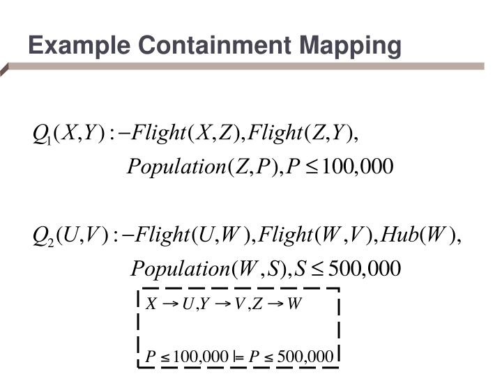 Example Containment Mapping