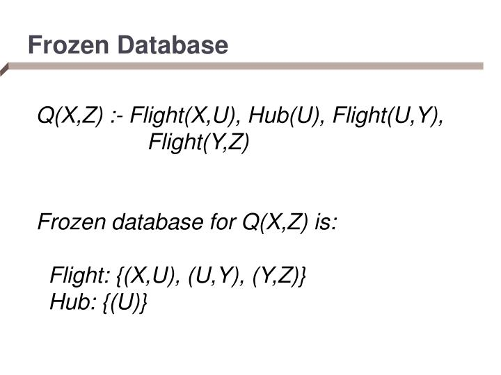 Frozen Database