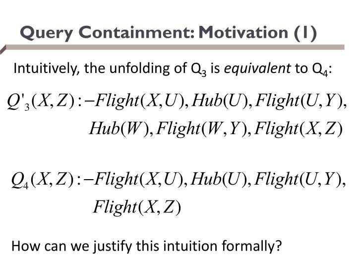 Query Containment: Motivation (1)
