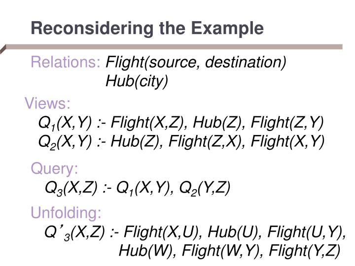 Reconsidering the Example