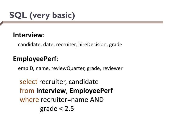 SQL (very basic)