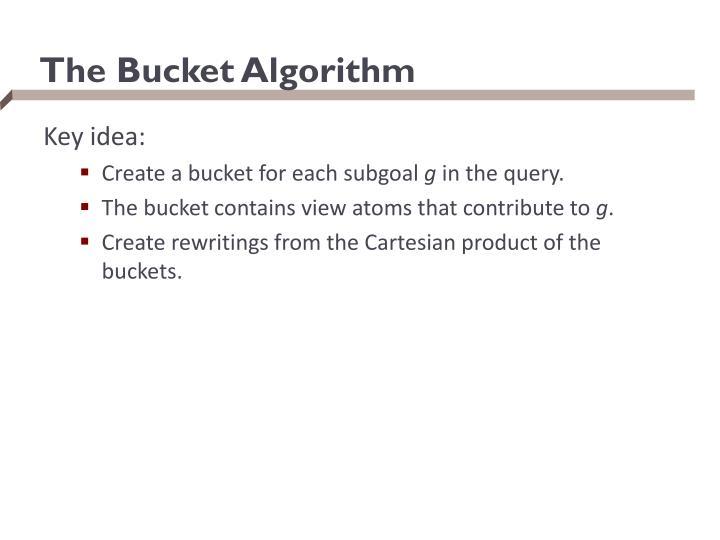 The Bucket Algorithm
