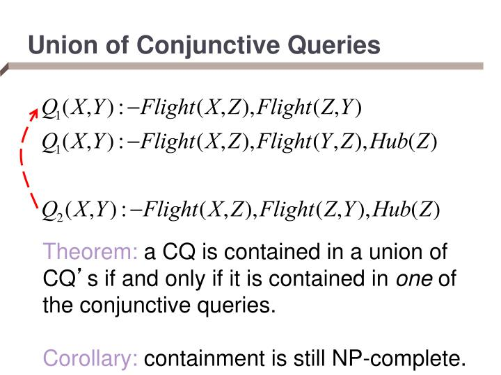 Union of Conjunctive Queries