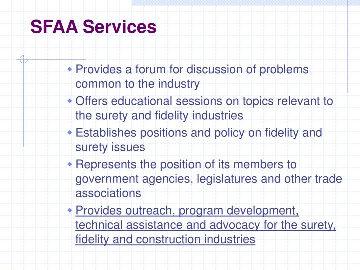 SFAA Services