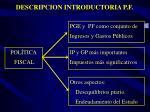 descripcion introductoria p f
