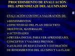 procedimiento de evaluaci n del aprendizaje del alumnado1