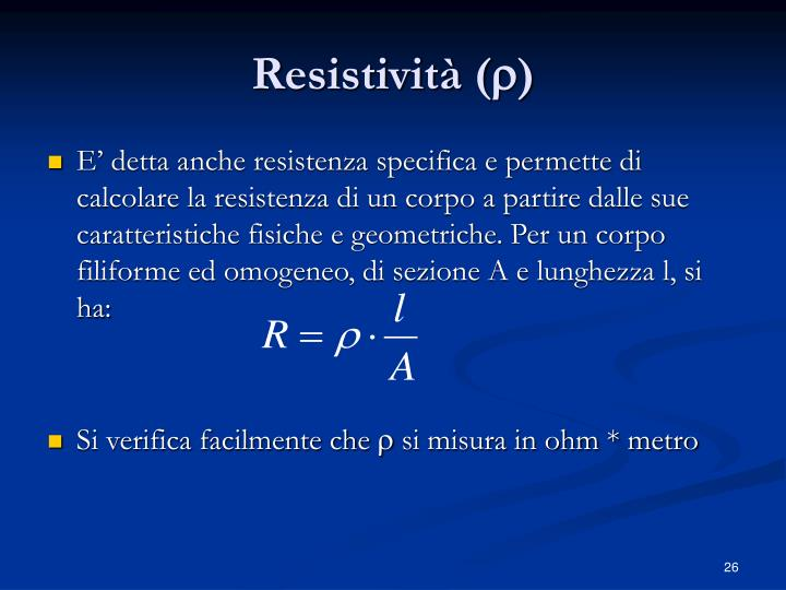 Resistività (