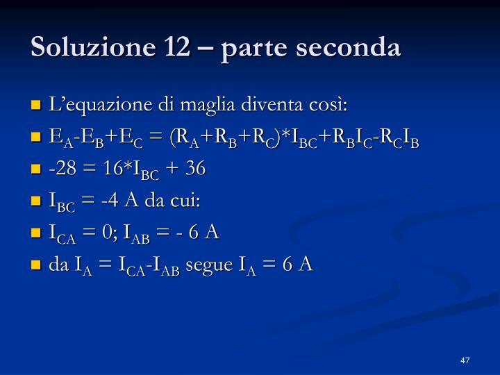 Soluzione 12 – parte seconda