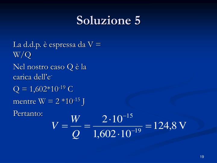 Soluzione 5