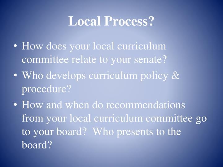 Local Process?
