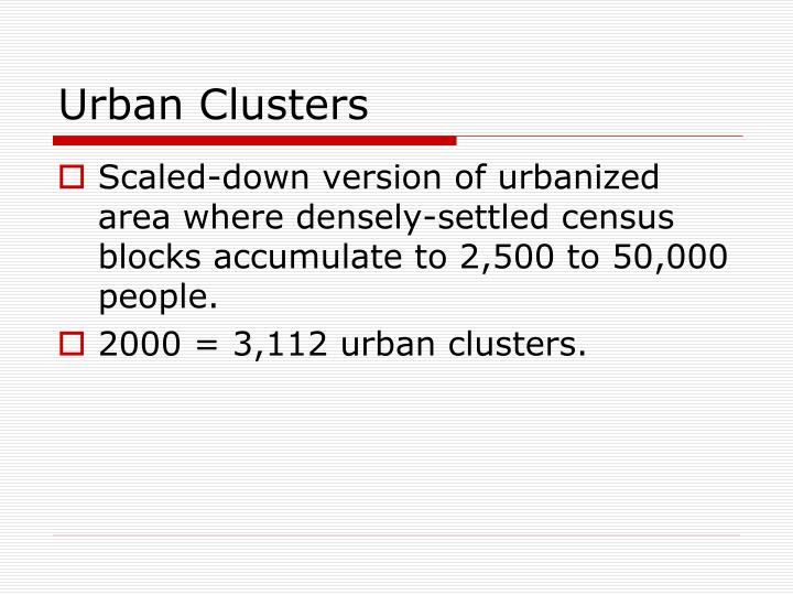 Urban Clusters