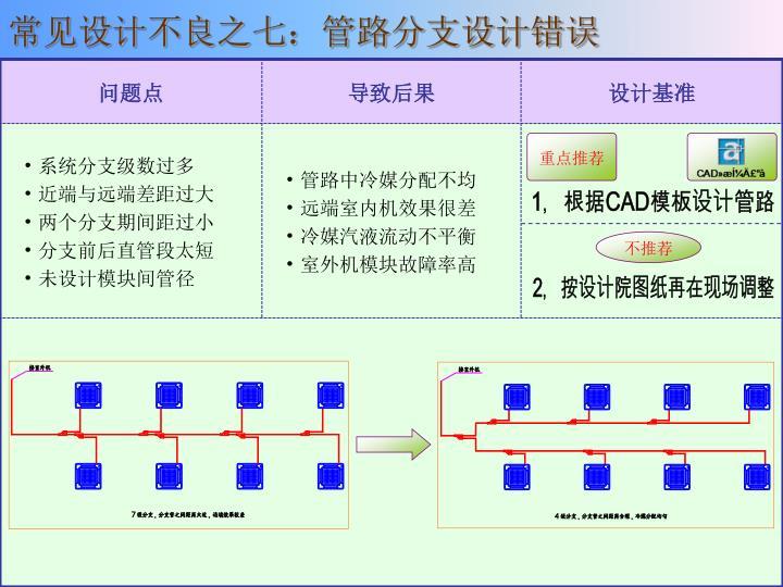 常见设计不良之七:管路分支设计错误