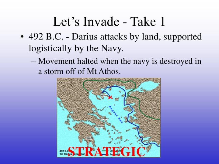 Let's Invade - Take 1