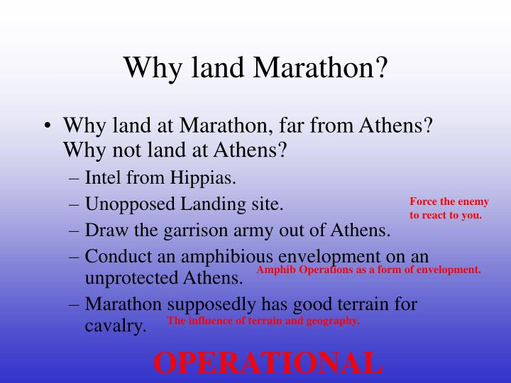 Why land Marathon?