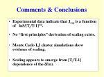comments conclusions