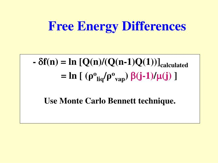 Free Energy Differences