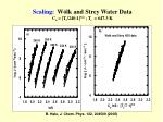 scaling w lk and strey water data c o t c 240 1 3 2 t c 647 3 k