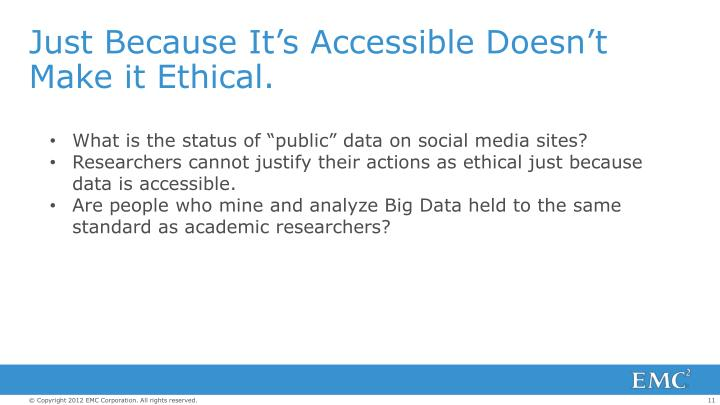 Just Because It's Accessible Doesn't Make it Ethical.