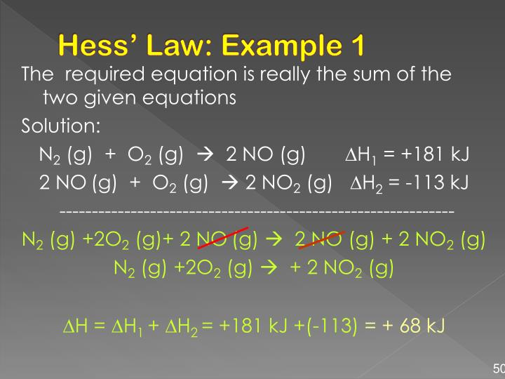 Hess' Law: Example 1
