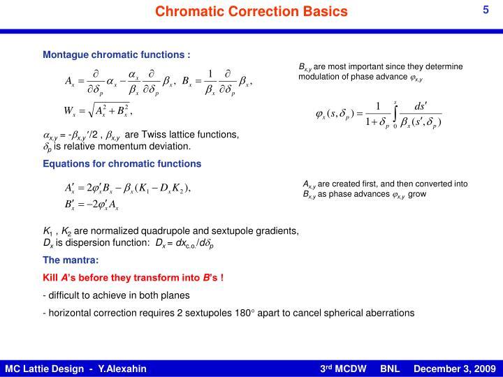 Chromatic Correction Basics