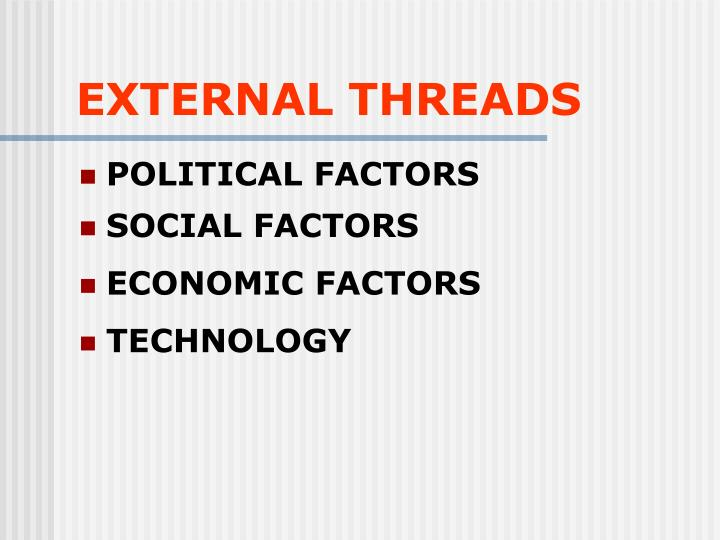 EXTERNAL THREADS
