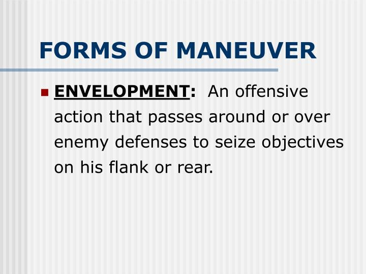 FORMS OF MANEUVER