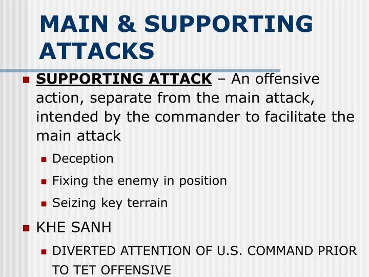 MAIN & SUPPORTING ATTACKS