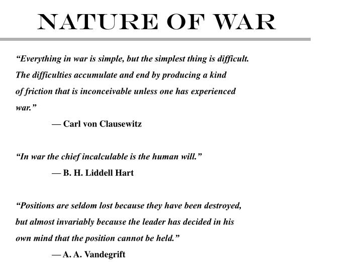NATURE OF WAR