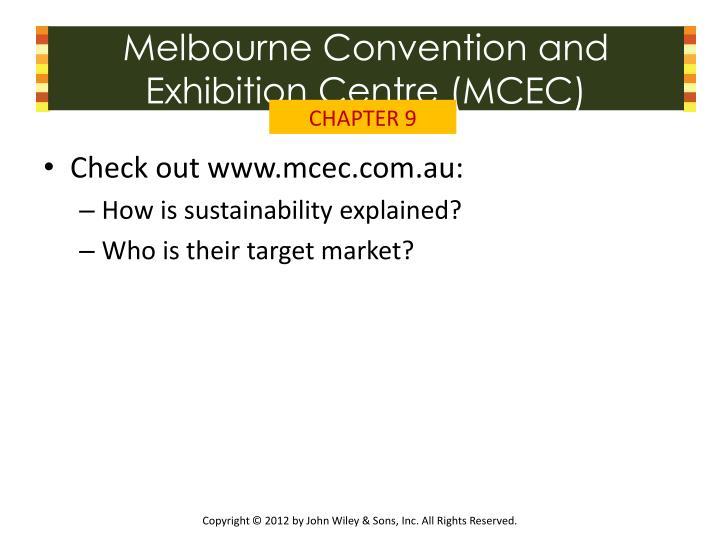 Melbourne Convention and Exhibition Centre (MCEC)