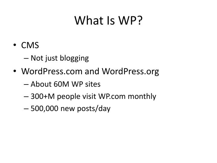 What Is WP?