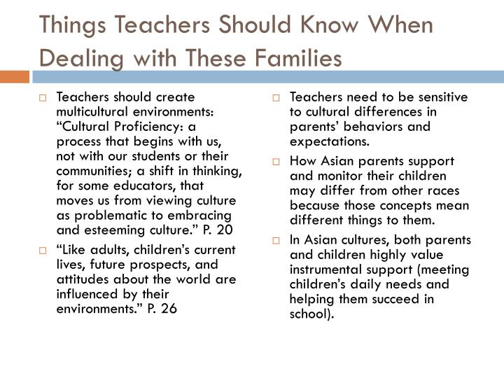Things Teachers Should Know When Dealing with These Families