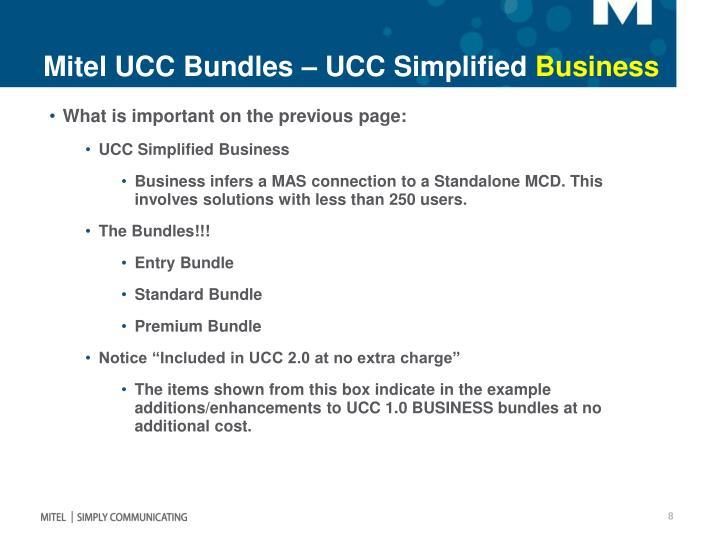 Mitel UCC Bundles – UCC Simplified