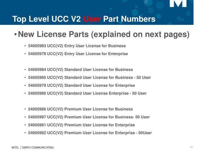 Top Level UCC V2