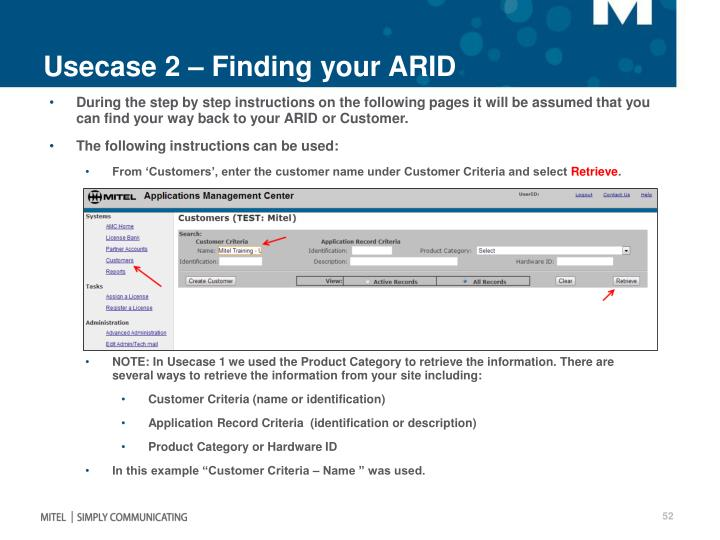 Usecase 2 – Finding your ARID
